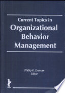 Current Topics in Organizational Behavior Management