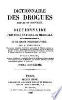 Dictionnaire des drogues simples et compos  es