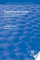 Organizing Knowledge  Introduction to Access to Information