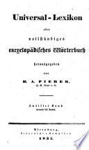 Universal-lexikon, oder Vollständiges encyclopädisches wörterbuch