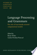 Language Processing and Grammars