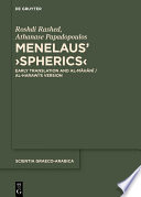 Menelaus' Spherics Menelaus Spherics Is Still By And