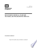 US Army Corps of Engineers  Recoverd Chemical Warfare Materiel  RCWM  Response Process
