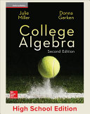 Miller, College Algebra © 2017, 2e, Student Edition, Reinforced Binding