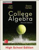 Miller  College Algebra    2017  2e  Student Edition  Reinforced Binding