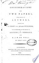 Considerations On Two Papers
