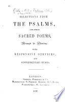 Selections from the Psalms and Other Sacred Poems