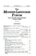 Modern Language Forum