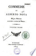 Commedie di Alberto Nota