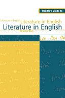 download ebook reader\'s guide to literature in english pdf epub