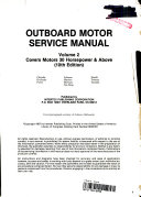 Outboard Motor Service Manual