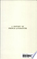 A History Of French Literature