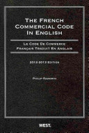 The French Commercial Code in English