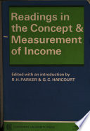 Readings in the Concept and Measurement of Income