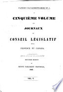 Appendix to     Journals of the Legislative Assembly of the Province of Canada