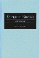 Operas In English