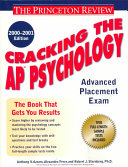 Cracking the AP Psychology  2000 2001 Edition