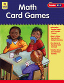 Math Card Games Grades K 1