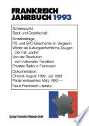 Frankreich-Jahrbuch 1993