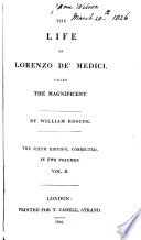 The Life of Lorenzo de Medicis Called the Magnificent, 2