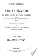 Nuovo Mandosio vocabolario italiano   latino e latino   italiano compilato colla scorta dei migliori r pi   recenti vocabolarii