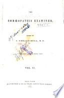 The Homoeopathic Examiner