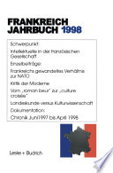 Frankreich-Jahrbuch 1998