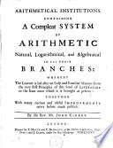 Arithmetical Institutions