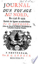 Journal D Un Voyage Au Nord En 1736 Et 1737