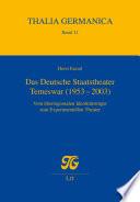 Das Deutsche Staatstheater Temeswar (1953-2003)
