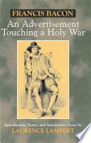 An Advertisement Touching a Holy War