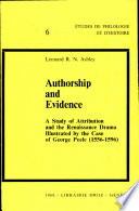Authorship and Evidence