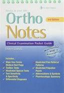 Ortho Notes