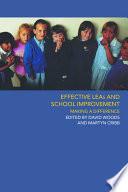 effective leas and school improvement