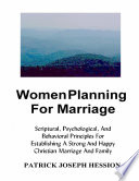 Women Planning For Marriage