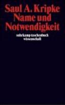 Name Und Notwendigkeit book