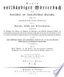 Nouveau dictionnaire complet à l'usage des Allemands et des Français
