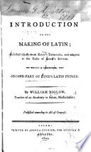 An Introduction to the Making of Latin