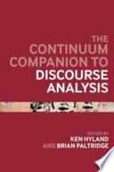 Bloomsbury Companion to Discourse Analysis