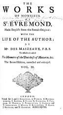 Book The Works of Monsieur de St. Evremond