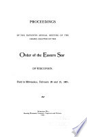 Proceedings of the     Annual Meeting of the Grand Chapter of the Order of the Eastern Star of Wisconsin