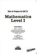 How to prepare for SAT II  mathematics  level I