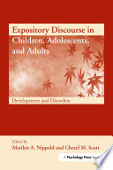 Expository Discourse in Children  Adolescents  and Adults