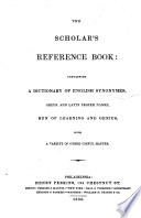 The Scholar's Reference Book