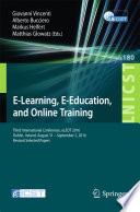 E Learning  E Education  and Online Training