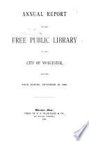 Annual Report of the Directors of the Free Public Library  Worcester