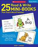 25 Read and Write Mini Books That Teach Word Families