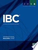 2018 International Building Code International Code Council Series 1st Edition