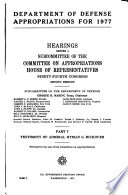 Department of Defense Appropriations for 1977 Book PDF