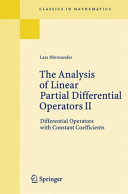 The Analysis of Linear Partial Differential Operators  Differential operators with constant coefficients